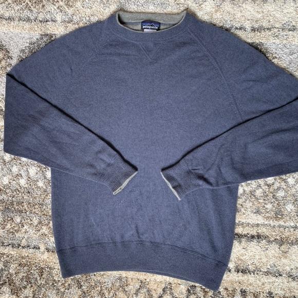 9d1ecbf5 Patagonia Sweaters   Blue Cashmere Crew Neck Sweater S   Poshmark